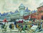 Старая Москва. Отъезд с кулачного боя. 1900-е
