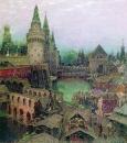 На рассвете у Воскресенского моста. Конец XVII века. 1900