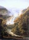 Водопад в Тиволи. Вид от виллы Мецената