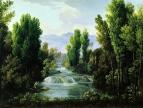 Пейзаж с водопадом. 1810-е г.
