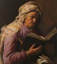 Пожилая женщина за чтением