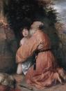 Авраам приносит в жертву ягненка вместо Исаака