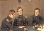Групповой портрет Андрея, Григория и Александра Васильевичей Дружининых
