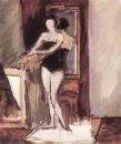 Натурщица перед зеркалом