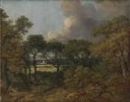 Лесной пейзаж с отдыхающим крестьянином