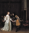 Кланяющийся даме офицер