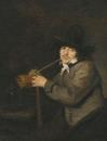 Портрет курящего мужчины