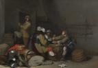 Интерьер караульной с солдатами