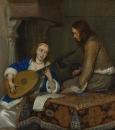 Женщина, играющая на теорбе и кавалер