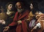 Лот и его дочери покидают Содом