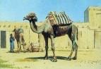 Верблюд во дворе караван-сарая. 1869-1870
