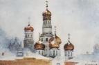 Колокольня Ивана Великого и купола Успенского собора. 1876