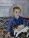 Коля с кошкой 1936