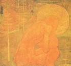 Эскиз фресковой живописи. Молитва. 1907