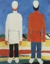 Две мужские фигуры (В белом и красном). Начало 1930-х