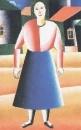 Девушка в деревне. 1928-1929