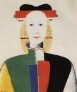 Девушка с гребнем в волосах. 1932-1933