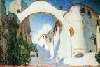 Деревня на берегу моря. Эскиз декорации к комедии Ж.-Б. Мольера Дон Жуан. 1910