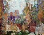 Душное Кащеево царство. Эскиз декорации к балету И.Ф.Стравинского Жар птица. 1910