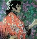Испанка в красной шали. 1906
