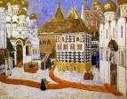 Кремлевская площадь. Эскиз декорации для первого акта оперы М.Мусоргского Борис Годунов. 1911