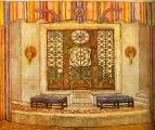 Галерея. Эскиз декорации к комедии П.О.Бомарше Безумный день или женитьба Фигаро. 1927