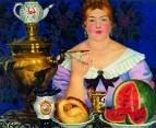 Купчиха, пьющая чай. 1923
