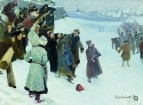 Кулачный бой на Москва-реке. 1897