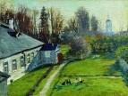 В имении коллекционера Е.Г. Шварца Успенское в Старой Ладоге. 1908