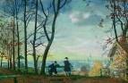 Вид с Воробьевых гор. 1919