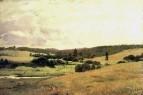 Долина речки Вори у деревни Мутовка, пейзаж с детьми. 1880