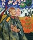 Портрет М.Ф. Ларионова и его взводного