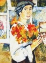 Автопортрет с жёлтыми лилиями