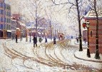 Snow, Boulevard de Clichy, Paris, 1886