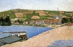 Hillside from Downstream, Les Andelys, 1886
