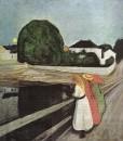 1889 jeunes filles sur la jetee