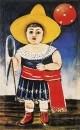 Девочка с воздушным шаром. Картон, масло, 65x41 ГМИ Грузии, Тбилиси