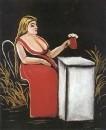 Женщина с кружкой пива.  Ок.1905 Клеенка, масло. ГМИ Грузии, Тбилиси