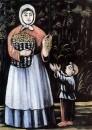 Крестьянка с сыном. Клеенка, масло, 75x56 ГМИ Грузии, Тбилиси