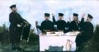 Кутеж кинто с органщиком Датико Земель. 1906 Клеенка, масло, 106x198 ГМИ Грузии, Тбилиси