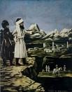 Шамиль перед Алазанской долиной. Клеенка, масло. ГМИ Грузии, Тбилиси