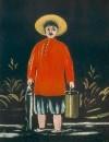 Рыбак в красной рубахе. 1908 Клеенка, масло. 113x93 ГМИ Грузии, Тбилиси