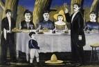 Семейная компания. 1907 Клеенка на холсте, масло. 115,5x171 ГТГ