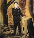 Портрет Ильи Жданевича. 1913. Клеенка, масло. ЧС