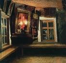 Красный угол в избе. 1869