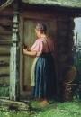Девушка у амбара. 1874