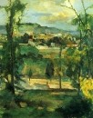Деревня за деревьями в Иль-де-Франс Около 1879