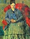 Мадам Сезанн в красном кресле (Мадам Сезанн в полосатой юбке) 1877
