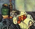 Натюрморт с имбирной кринкой, сахарницей и яблоками 1890-1894