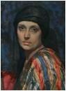 Женщина в пестрой шали 1931